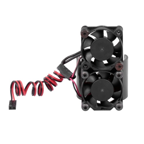 Dissipatore di calore del motore per auto RC 550540 Ventole di raffreddamento a doppio motore con sensore termico Dissipatore di calore in lega di alluminio CNC