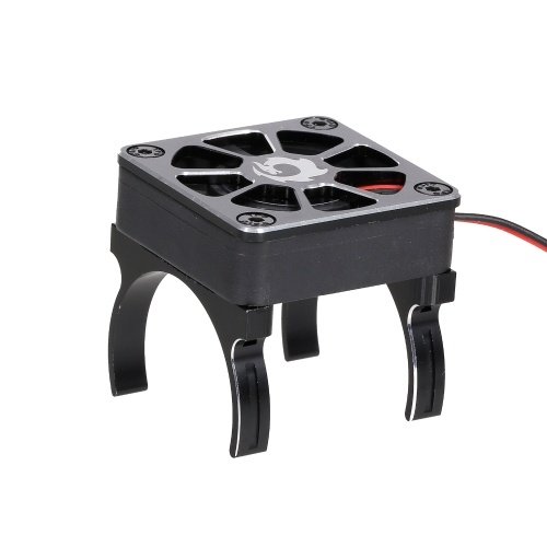 Ventilateur de refroidissement de radiateur de moteur RC avec 2 pinces et câble adaptateur pour moteur brossé série 540550