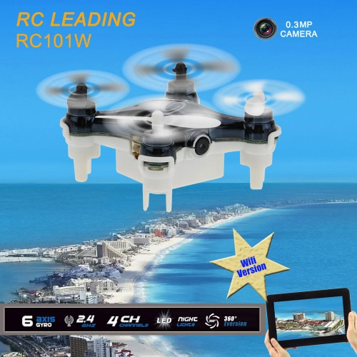 RC che conduce RC101W WIFI 4CH 6 assi giroscopio RC Quadcopter con 0.3 MP macchina fotografica