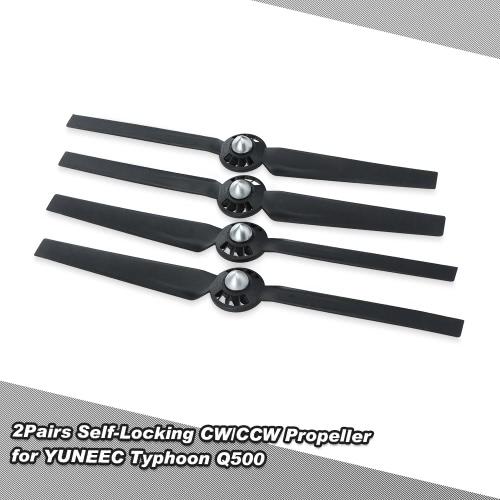 YUNEEC台風Q500 Q500M Q5004K RCクワッドローター用2PairsセルフロックCW / CCWプロペラ