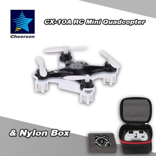 Original Cheerson CX-10A 2.4G 6-Axis Gyro RTF Mini Drone Quadcopter & Nylon Box