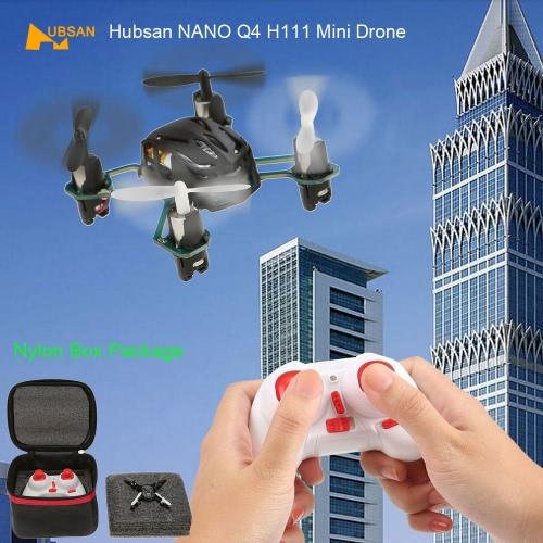 元 Hubsan ナノ Q4 H111 2.4 G 4 CH 6 軸ジャイロ RTF 小型ドローン Quadcopter & ナイロン ボックス