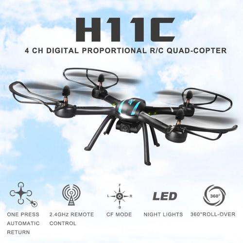 Oryginalny JJR / C H11C 2.4G 4CH 6-Axis Gyro CF Tryb One Key Powrót RC Quadcopter z 2.0MP kamera HD
