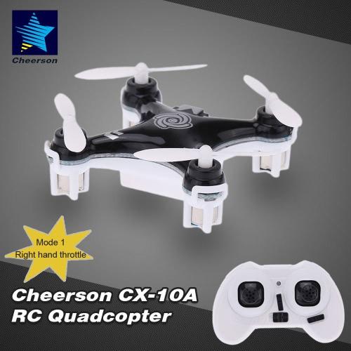 Original Mode 1 Cheerson CX-10A 2.4GHz 4CH RC Quadcopter NANO Drone UFO with Headless Mode Function