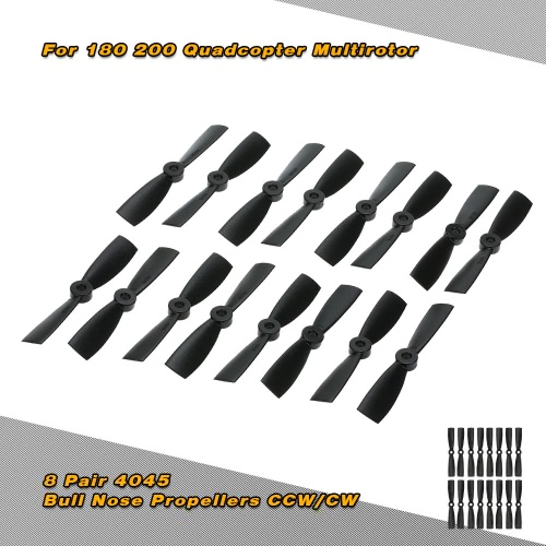 8 Pair 4045 Bull Nose Props Propellers CCW/CW for Mini 180 200 Quadcopter Multirotor