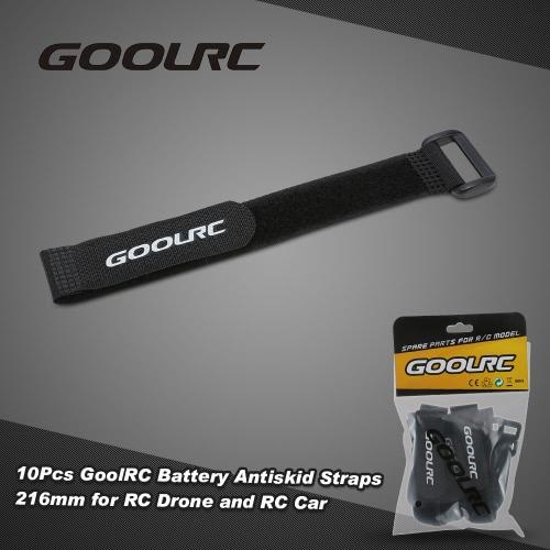 10pz GoolRC forte RC batteria cinghie antiscivolo bande 216mm per elicottero Drone RC e RC auto