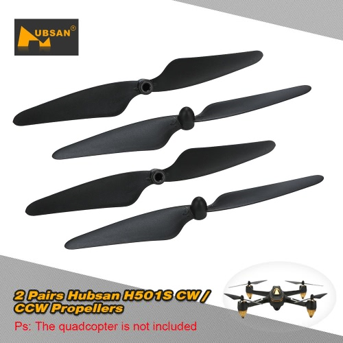 2 Pairs Original Hubsan H501S-05B / H501S-06B CW / CCW Propeller Blade  RC Part for Hubsan H501S RC Quadcopter