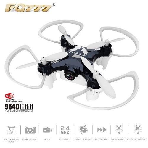 FQ777 954D 4CH 2.4GHz 6-Axis Gyro 0.3MP macchina fotografica di WiFi FPV Phone APP controllo Quadcopter con modalità Gravità rilevamento altitudine attesa