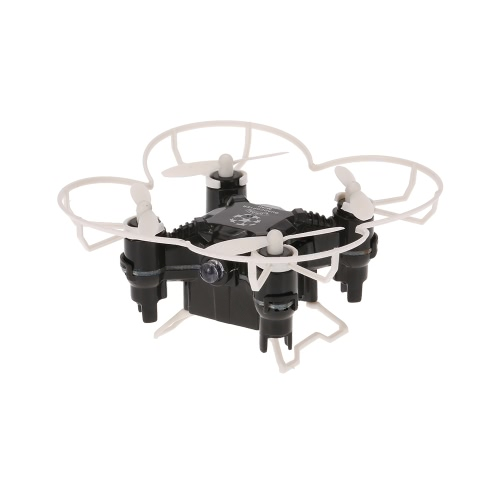 Original FQ777 124 + Nano 2.4G 4CH 6 Axis Gyro RC Quadcopter com controlador comutável e Headless Mode RTF Pocket Drone