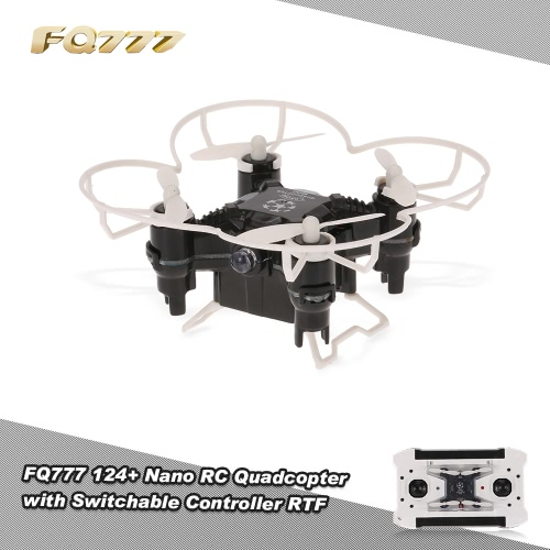 Original FQ777 124+ Nano 2.4G 4CH 6 Axis Gyro RC Quadcopter with Switchable Controller and Headless Mode RTF Pocket Drone