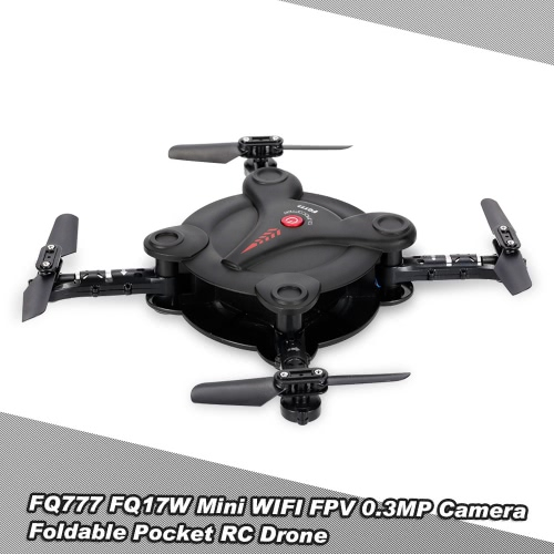 FQ777 FQ17W 6-Axis Gyro Mini Wifi FPV Foldable G-sensor Pocket Drone with 0.3MP Camera Altitude Hold RC Quadcopter