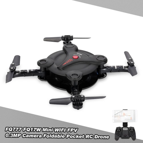 FQ777 FQ17W 6-Axis Gyro Mini Wifi FPV plegable G-sensor de bolsillo Drone con 0.3MP Cámara Altitud Hold RC Quadcopter