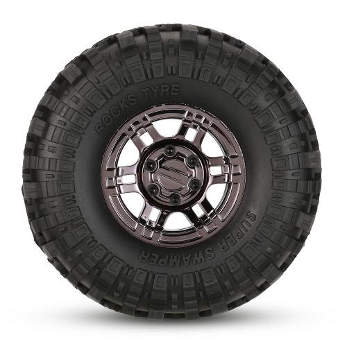 4Pcs AUSTAR AX-4020E 1.9 Inch 110mm 1/10 Rock Crawler Tires with Beadlock Wheel Rim for D90 SCX10 AXIAL RC4WD TF2 RC Car