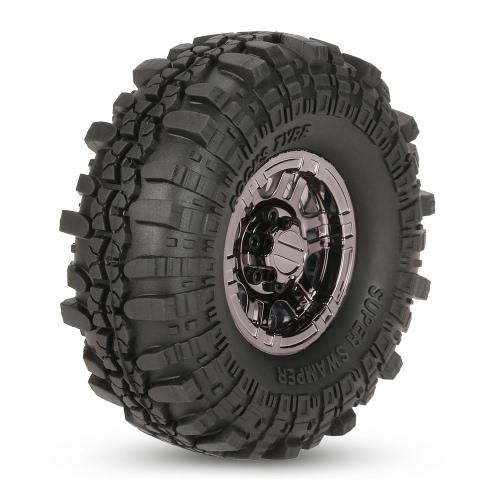 4pcs AUSTAR AX-4020C 1,9 pulgadas 110mm 1/10 Neumáticos Roca orugas con Beadlock Llanta para D90 SCX10 AXIAL RC4WD TF2 del coche de RC