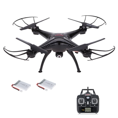 SYMA X5SC 2.4G 6-Axis Gyro 2.0MP Camera Drone Headless Mode 3D Flip RC Quadcopter RTF avec une batterie supplémentaire