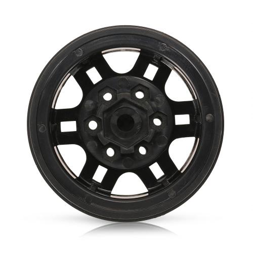 4Pcs AUSTAR AX-616BK 1.9 Inch 1/10 Rock Crawler Beadlock Wheel Rim Hub for D90 SCX10 AXIAL RC4WD TF2 RC Car