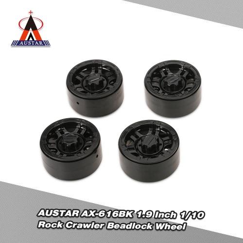4 pezzi AUSTAR AX-616BK 1.9 pollici 1/10 Rock Crawler Beadlock cerchione Mozzo per D90 SCX10 ASSIALI RC4WD TF2 RC Auto