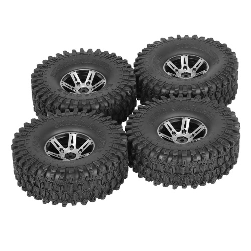 4Pcs AUSTAR AX-5020A 1.9 Inch 1/10 Rock Crawler Tires with Metal Hub for Traxxas Redcat SCX10 AXIAL RC Car