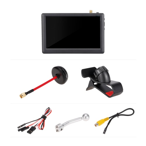 Hawkeye Little Pilot 5 polegadas 5.8G 40CH FPV Monitor Receptáculo embutido para QAV250 Racing Drone DIY Quadcopter Aerial Photography Display