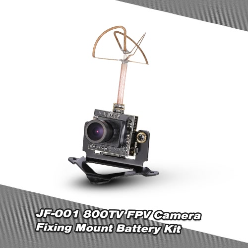 JF-001 5.8G 40CH 25mW Transmitter 800TV FPV Camera w/ Fixing Mount Lipo Battery Kit for Racing Drone FPV Car