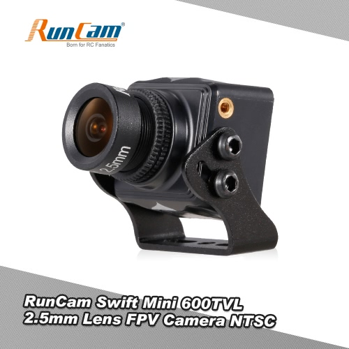 RunCam Swift Mini 600TVL 2.5mm Lens DC 5-36V FPV Camera OSD w/ IR Blocked NTSC for QAV250 Racing Drone Aerial Photography