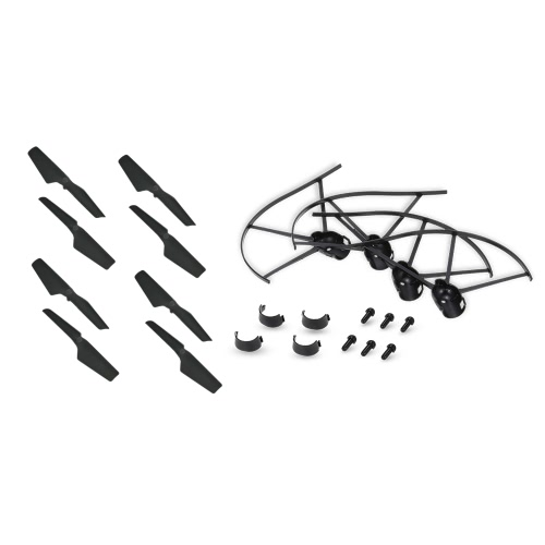 4pcs Propeller Guard Ring and 4 Pair CW CCW Propeller for JJR/C H37 GoolRC T37 RC Drone Quadcopter