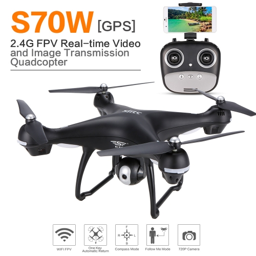TOMTOP / SJ RC S70W 120° wide-angle 720P HD Camera Wifi FPV GPS RC Drone Quadcopter - RTF