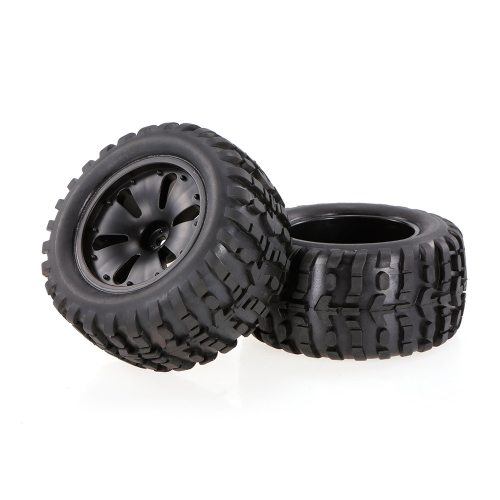 2 pezzi 2.75 pollici 120mm monster truck cerchione e pneumatico per 1/10 HPI Savage XS Flux MT LRP RC auto