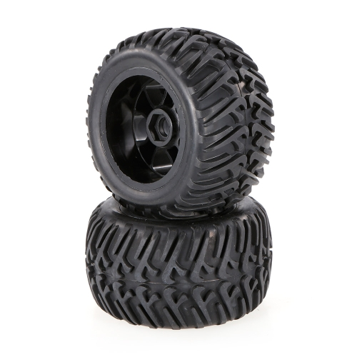 2pcs 2.67 pulgada 124 mm Rock Crawler Monster Truck borde de la rueda y neumático para 1/10 HSP HPI ZD Racing RC coche