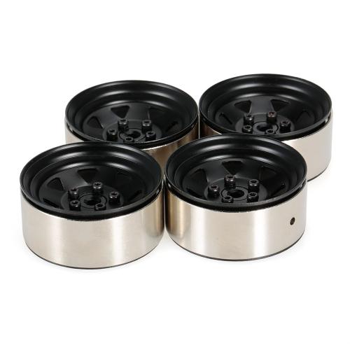 4pcs 1.9 Inch 1/10 Wheel Hub Deadlock Metal Wheel Rim for 1/10 D90 SCX10 CC01 RC4WD RCRUN RC Crawler Parts