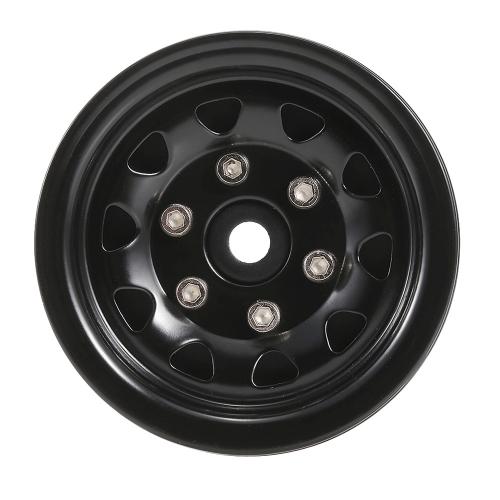 4 pcs AUSTAR AX-618BK 1.9inch Metal Roda Hub Rim Set para Axial SCX10 RC4WD D90 1/10 RC Rock Crawler Car
