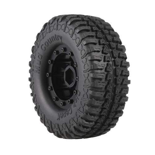 4 pezzi AUSTAR 3020-3 100mm 1.9in Cerchi in gomma cerchio Set per RC4WD D90 CC01 1/10 RC Rock Crawler Car