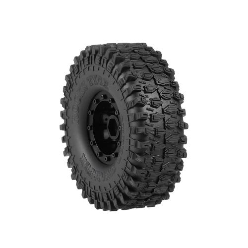 4pcs AUSTAR 5020-2 120mm 1.9in Rim Rubber Tyre Wheel Set for Axial SCX10 RC4WD D90 TRX-4 1/10 RC Rock Crawler Car
