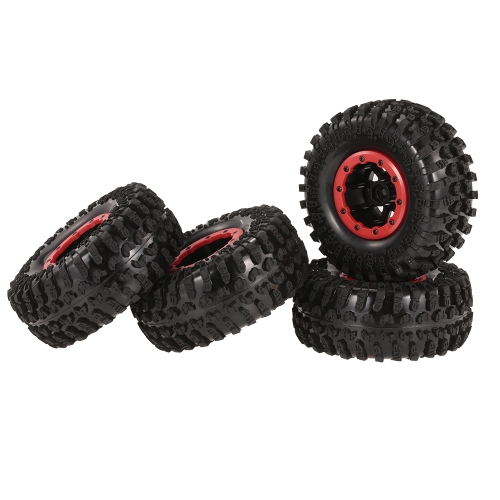 4pcs AUSTAR AX-3021B 130mm 2.2in Rim Rubber Tire Wheel Set para Axial SCX10 RC4WD D90 1/10 RC Rock Crawler Car