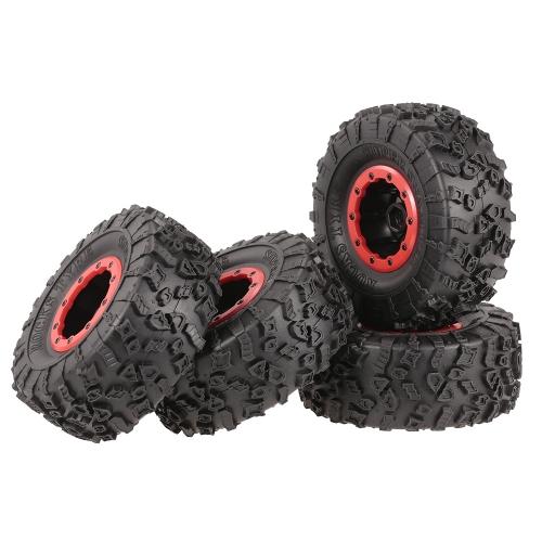 4 stücke AUSTAR AX-4021F 132mm 2,2 zoll Felge Gummi Reifen Radsatz für Axial SCX10 RC4WD D90 1/10 RC Rock Crawler Auto