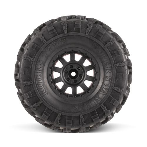4pcs AUSTAR AX-4021E 132mm 2.2inch Rim Rubber Tyre Wheel Set for Axial SCX10 RC4WD D90 1/10 RC Rock Crawler Car