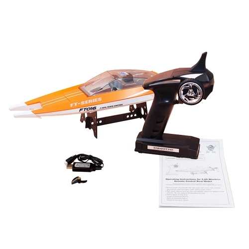 Original Feilun FT016 2.4G 30km/h High Speed RC Racing Boat with Water Cooling Flipped Self-righting Function