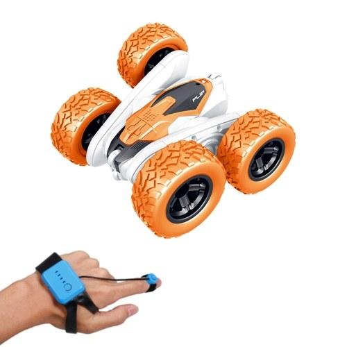 4WD 2,4 GHz Wireless Watch Control Renn-RC-Car 360 ° Spin Flip 2-seitiger Steuerscheinwerfer