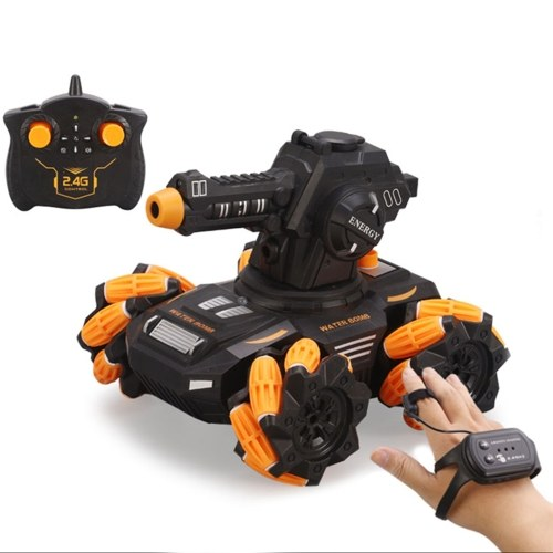 SY020-1 2.4Ghz Remote Control Car Water Boom Armored Stunt Car Drift Wheel RC Car with Light and Spray Image