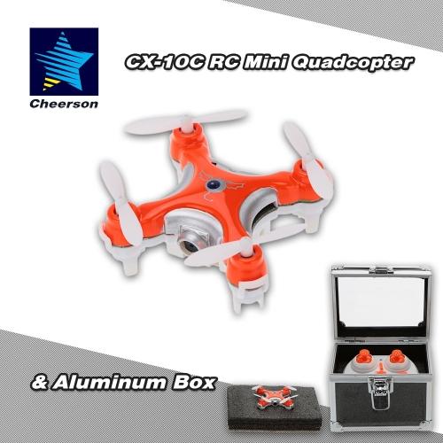 Original Cheerson CX-10C 2.4G 6-Axis Gyro 0.3MP Camera RTF Mini Drone Quadcopter & Aluminum Box