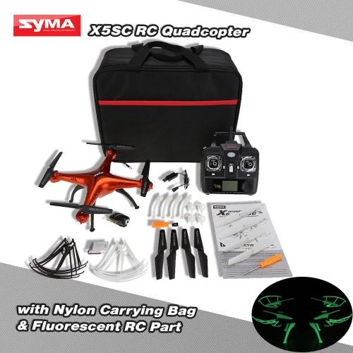 Original Syma X5SC 4CH 2.4G 6-axis Gyro RC 2.0MP Camera FPV Quadcopter with Nylon Carrying Bag & Fluorescent Sets