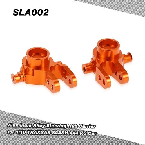 1/10 TRAXXASためのハブキャリア(L / R)をステアリングSLA002アルミ合金は、4x4のRCカーをSLASH