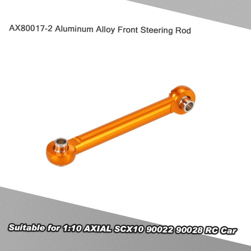 AX80017-2 Aluminum Alloy Front Steering Rod for 1:10 AXIAL SCX10 90022 90028 RC Car