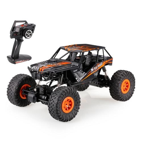 オリジナルWLtoys 10428-D 1/10 2.4G 4WD電動ブラシ付きクローラRTR RCカー