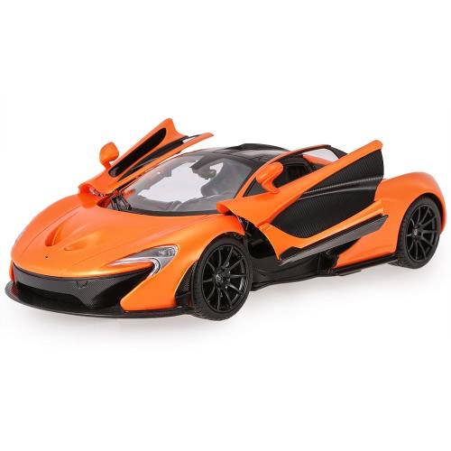 Original RASTAR 75100 27MHz/40Mhz 1/14 McLaren P1 RC Super Sports Car Simulation Model with Remote Control Door