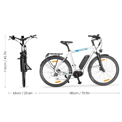 HONG CD01 27.5 Inch Electric Bike with 8 Speed Shifter For Men Image