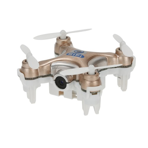 Cheerson CX-10W CX10W 4CH 6-Axis Girocompás Wifi FPV RTF Mini RC Quadcopter con cámara de 0.3MP