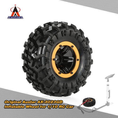 Austar original AX-3023GD Aire neumático Beadlock Rueda llanta y el neumático para HSP 1/10 Tamiya HPI Monster Truck