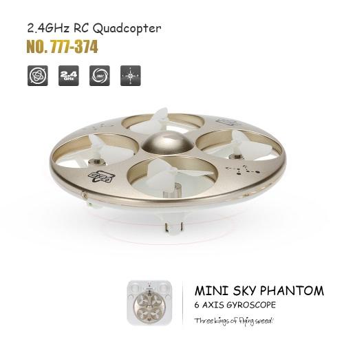 HappyCow 777-374 Mini Sky Phantom Nano 2.4GHz 4CH 6-axis Gyro RC Quadcopter 3D Flip Headless Mode UFO Drone RTF