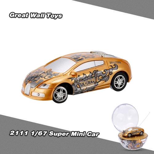 GREAT WALL TOYS 2111 1/67 Super Mini RC Car with Magnifier Sphere Package Collection Toys Vehicle for Kids